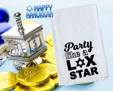 Flour Sack Towel - Party Like a Lox Star