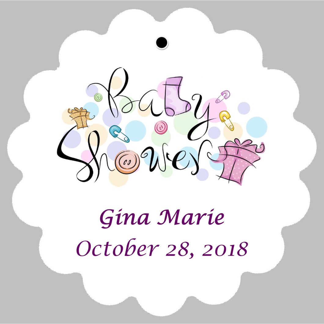 Baby Shower Tag - Festive  (set of 30)