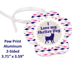Paw Print Ornament - 2-Sided