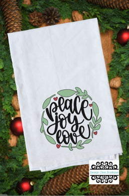 Flour Sack Towel - Peace - Joy - Love