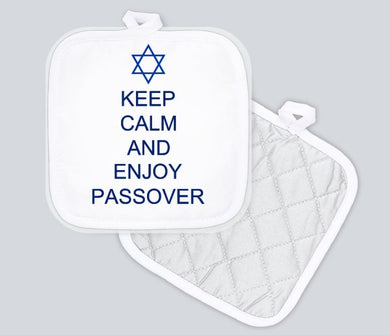 Potholder - Keep Calm and Enjoy Passover