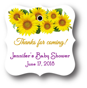 Bridal or Baby Shower Tag - Sunflowers (set of 24)