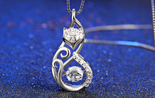 Silver Fox Necklace, Sterling Silver and CZ