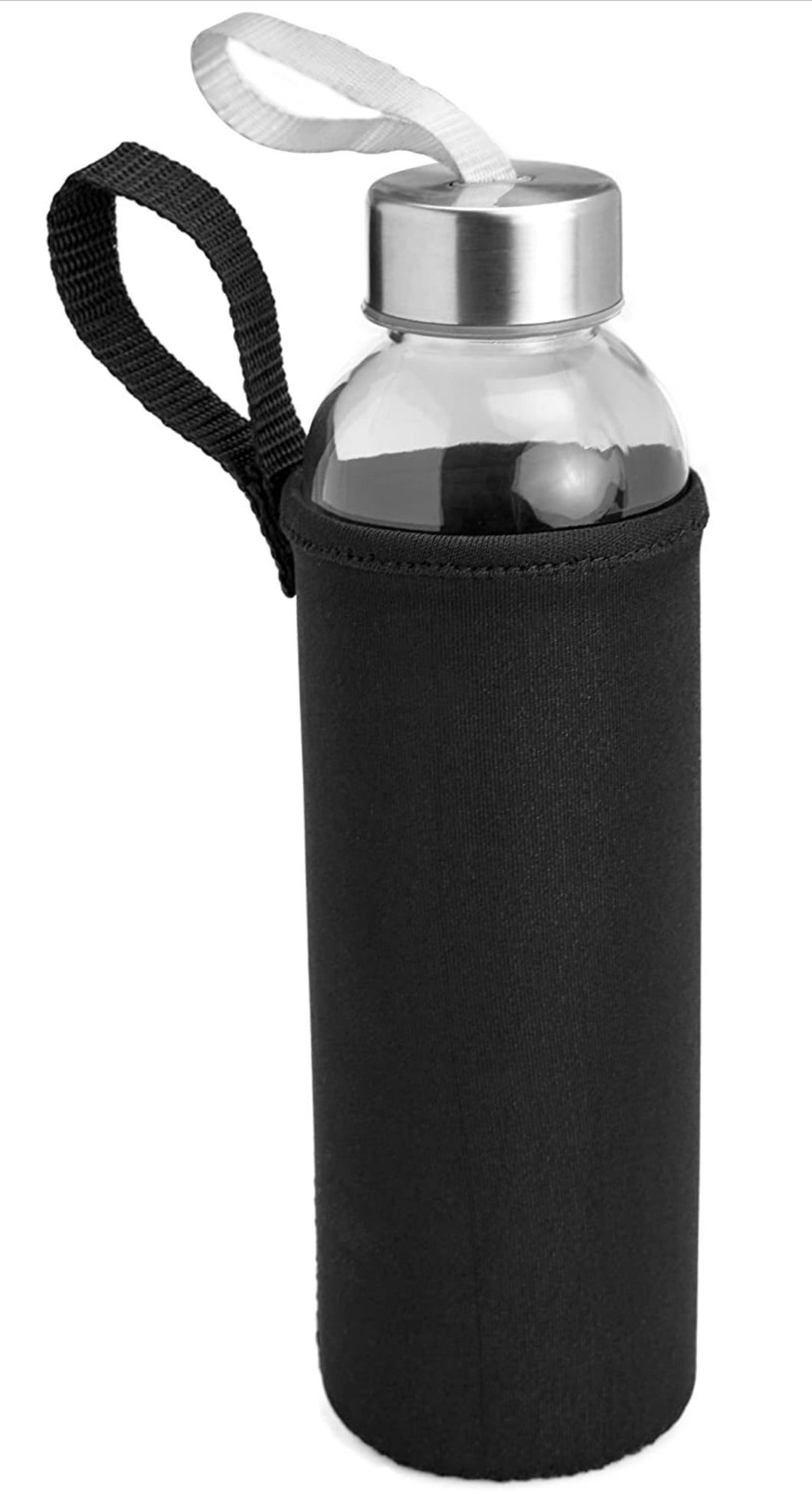 Glass Water Bottle with Neoprene Sleeve - Personalized