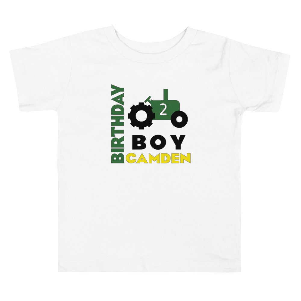 Tractor Birthday Shirt - Choose Age/Name