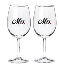 Mr. and/or Mrs. - Set of 2 Glasses