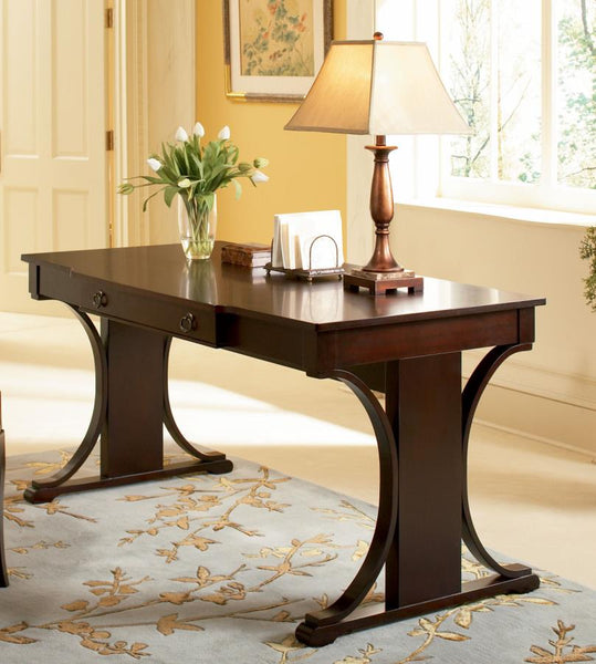 home office writing desk. Red Brown Transitional Home Office : Desks Writing Desk Home Office Writing Desk