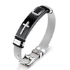 Image of Men's Cross Wristband Bracelet (Free Shipping Worldwide)