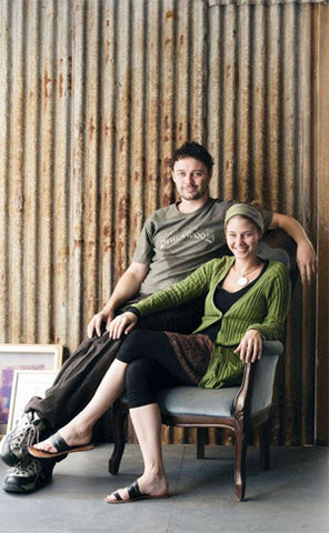 Co-founders Toni and Warwick Behrens