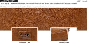 JEEP Brand PU Leather Shoulder / Crossbody Bag & Wallet, 2 Piece Set - Men's / Gents