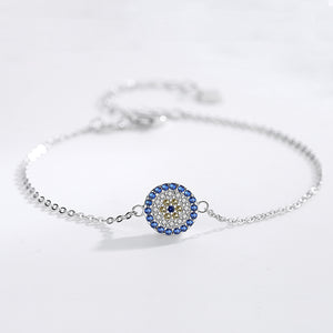 KALETINE Turkish Style Eye Theme 925 Sterling Silver Bracelet - Ladies / Women's, CZ