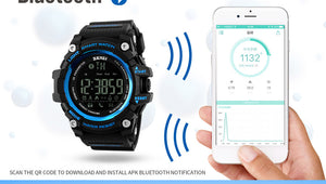 SKMEI 1227 Digital Smart Unisex Sports Watch - Bluetooth / Water Resistant 50m, Shock Resistant, Pedometer, Call & App Reminder