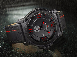 NAVIFORCE Mens / Gents Stainless Steel, Leather Watch - Quartz Movement, Water & Shock Resistant, Casual & Business