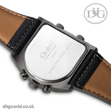 Oulm Travelers Quartz Men's Watch - Stainless Steel, Leather, Multiple Time Zones, Different Colours Available