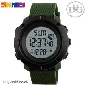 SKMEI Military Style Japanese Digital Sports Watch - Men's / Gents, 50m Water Resistant