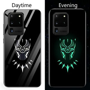 Marvel / DC Superhero Luminous Tempered Glass Huawei Case - P20 P10 Honor 20 Pro Lite Plus, Iron Man, Batman, Black Panther, Captain America, Venom