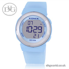 XONIX Sports, Fun, Digital Ladies / Women's Watch - Water Resistant (100m / 10 Bar), LED Display, Chronograph