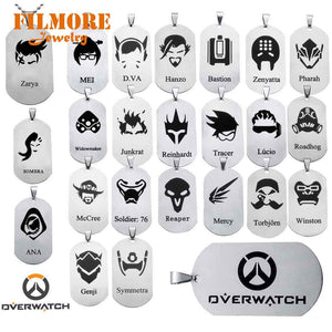 Trendy, Overwatch Symbol Theme Dog Tag / Pendant / Necklace - Unisex, Cosplay, Gaming
