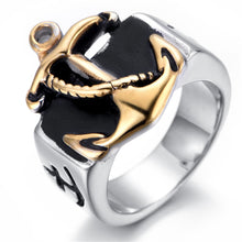 Trendy 316L Stainless Steel, Nautical / Maritime / Naval / Anchor Themed Ring - Men's / Gents