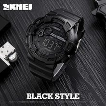 SKMEI Military Style Digital LED Mens Sports Watch - Water & Shock Resistant, Chronograph