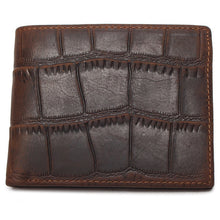 TAUREN Trendy High Quality Genuine Leather Crocodile Style Short Wallet - Men's / Gents
