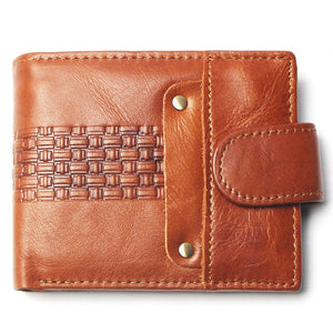 TAUREN Fashionable Genuine Leather, Rectangle Pattern, Anchor Style Wallet - Men's / Gents