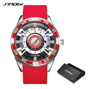 SINOBI Creative Speed Design Stainless Steel Quartz Watch - Men's / Gents