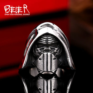 BEIER Trendy Star Wars Theme, 316L Stainless Steel, Kylo Ren Ring - Men's / Gents, Sci-Fi