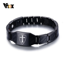 VNOX Stylish / Gothic Stainless Steel Magnetic Knights Templar Bracelet -  Men's / Gents