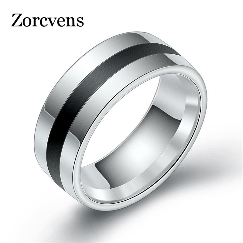 ZORCVENS Stylish / Trendy 316L Stainless Steel Ring - Men's / Gents