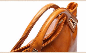 FUNMARDI Designer / Professional Oil Wax PU Leather Crossbody / Shoulder Handbag / Purse - Ladies / Women's
