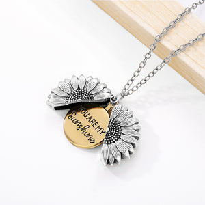"Sweet ""You Are My Sunshine"" Sunflower Theme Pendant / Necklace - Ladies / Women's"