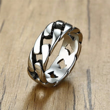 VNOX Stylish Stainless Steel Link Chain Style Ring - Men's / Gents
