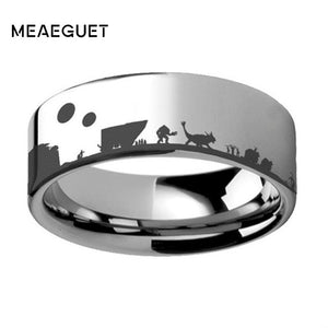 Sci-Fi Star Wars Theme 316L Stainless Steel Tatooine (Jabbas Palace) Ring - Unisex