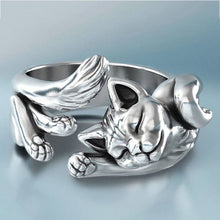 FOYDJEW Cute Silver Plated Cat / Kitten Theme Adjustable Ring - Women's / Ladies