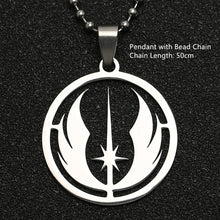 Trendy, Elegant Stainless Steel, Star Wars, Jedi Order Theme Necklace / Pendant - Unisex
