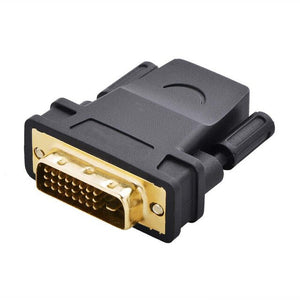 24K Gold Plated DVI (Male) to HDMI (Female) Adapter / Converter - 1080P, HDTV, Monitor, Laptop, Desktop