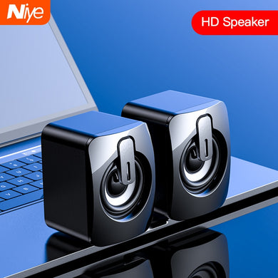 NIYE Classic, USB / 3.5mm Wired, Mini 3D Surround Sound Stereo Speakers - PC, Laptop, Desktop, Notebook, Smartphone