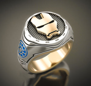 Trendy / Punk Style, Stainless Steel, Marvel, Iron Man / Tony Stark Theme Ring - Men's / Gents