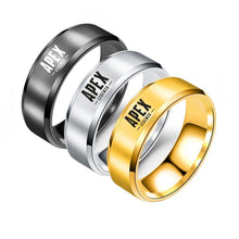Trendy, 316L Stainless Steel, 8mm, Apex Legends Theme Ring - Unisex
