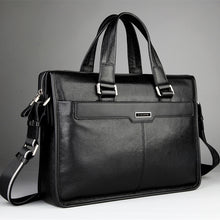 P.KUONE High Quality, Genuine Leather 15.6 Inch Laptop / Notebook Bag / Briefcase - Men / Gent's, Phone Pocket