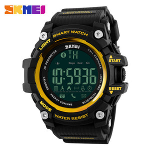 SKMEI 1227 Digital Sports Smartwatch - Unisex, Water Resistant 50m, Bluetooth, Call & App Reminder