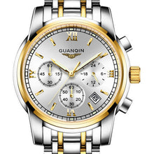 GUANQIN Fashionable Branded Business Watch - Men's / Gents - Stainless Steel, Sapphire Crystal, Water Resistant 30m (3 Bar)