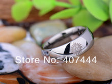 YGK Classic Tungsten Carbide, Silver, Supernatural Logo Themed Dome Ring - Unisex, Men's, Women's