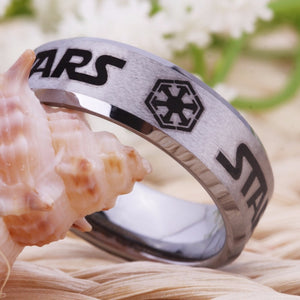 YGK Trendy Style Tungsten Carbide Star Wars Themed Ring - Unisex, Men's, Women's