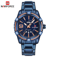 NAVIFORCE Military Sports Fashion Quartz Watch - Men's / Gents - Water Resistance, Stainless Steel