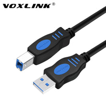 VOXLINK USB 2.0 A to B, Male to Male / Extension Cable (1m, 1.8m, 3m, 5m) For Data Transfer, Desktops, Laptops, Cameras, Printers, Mouse Keyboard