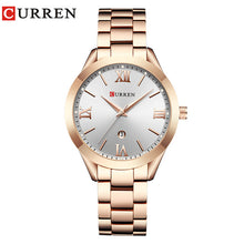 CURREN Fashion Brand Quartz Luxury Dress Stainless Steel Watch - Ladies, Women's, Water Resistant (30m)