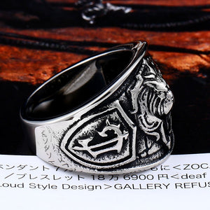 BEIER World of Warcraft - The Alliance, 316L Stainless Steel, Lion Theme Ring - Men's / Gents