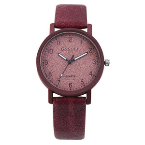GOGOEY Fashionable, Cute Quartz Watch - Ladies / Women's, PU Leather, Stainless Steel